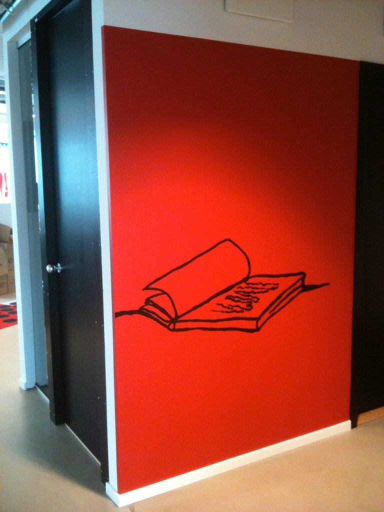 Väggmålning på Egmonts huvudkontor, min egen design.