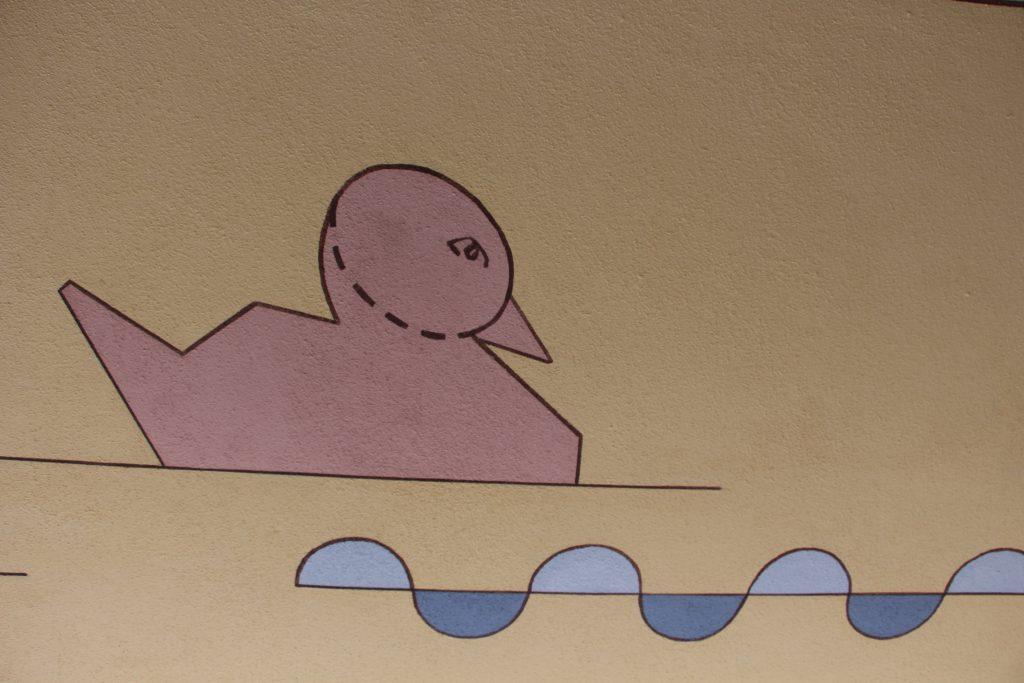 Detalj från takmålning i Liljeholmen.